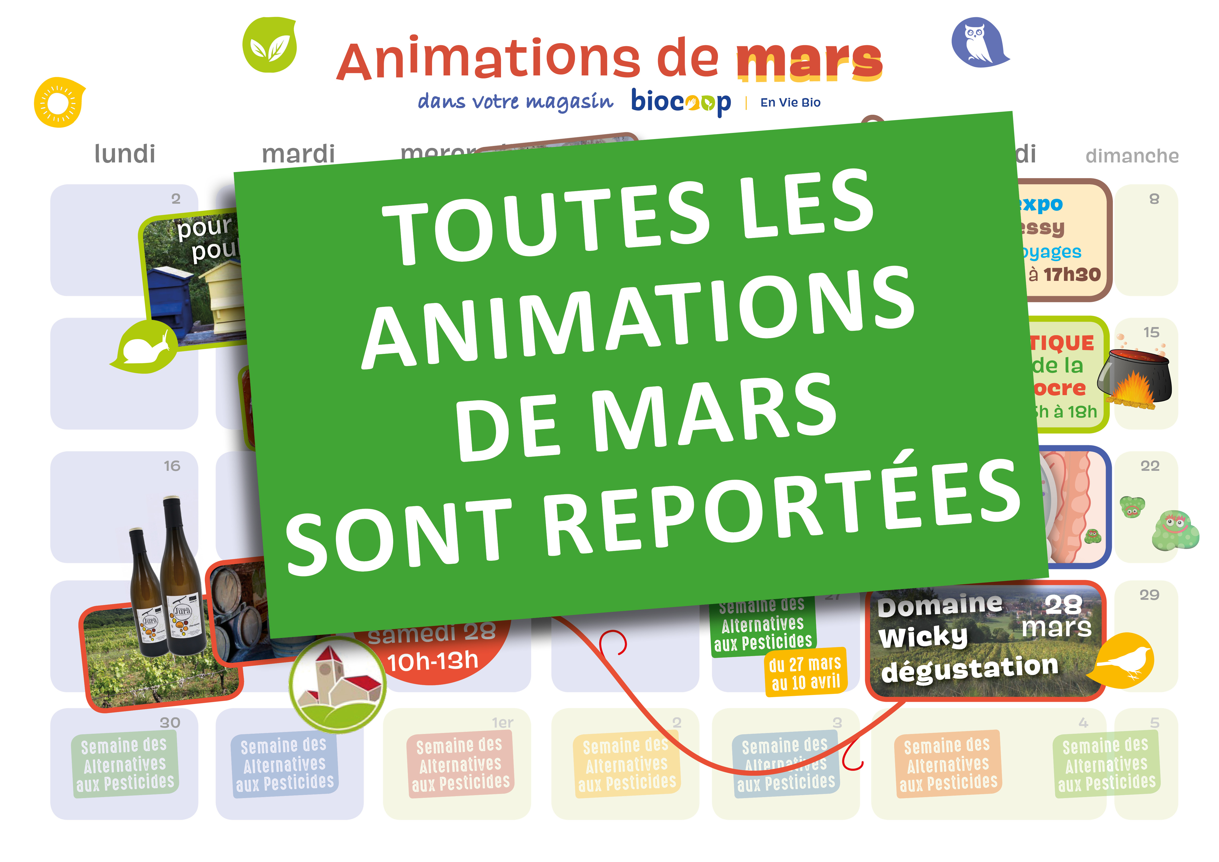 Animations magasin de mars